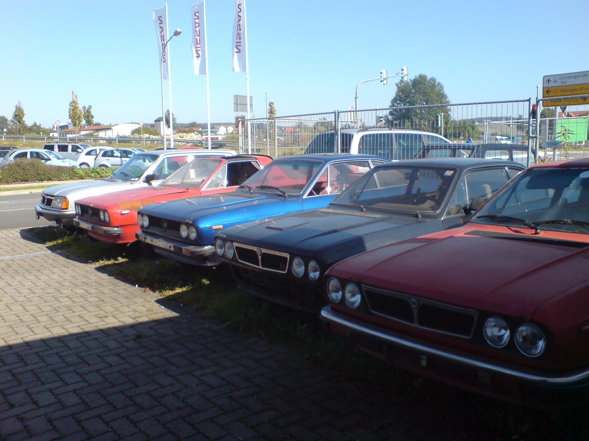 5 mal Lancia Beta zum Richten oder Ausschlachten